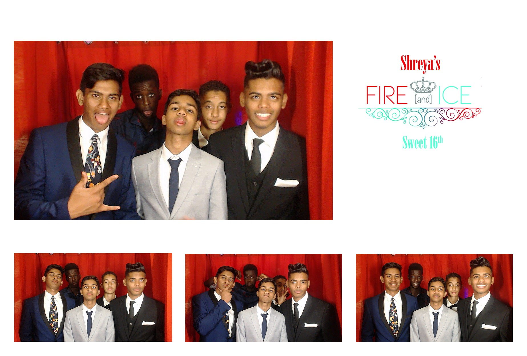 Shreya`s Fire & Ice Party: Sweet 16: Photobooth Umhlanga
