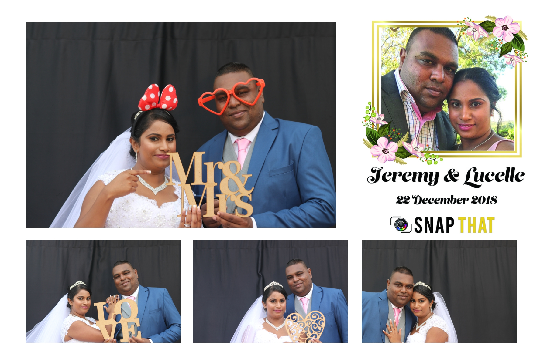 Jeremy & Lucelle Wedding Photobooth