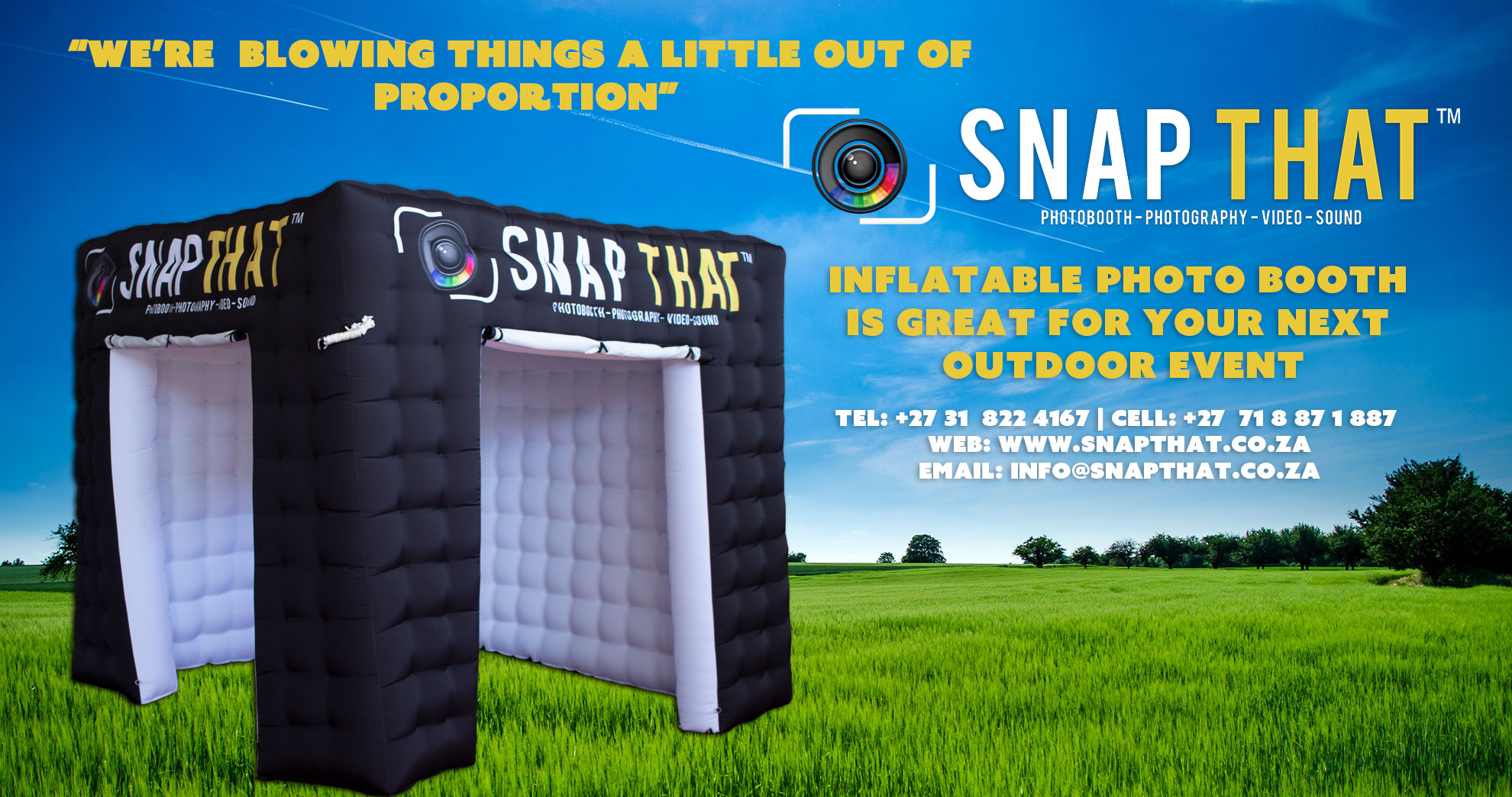 Inflatable Photobooth Durban - SnapThat