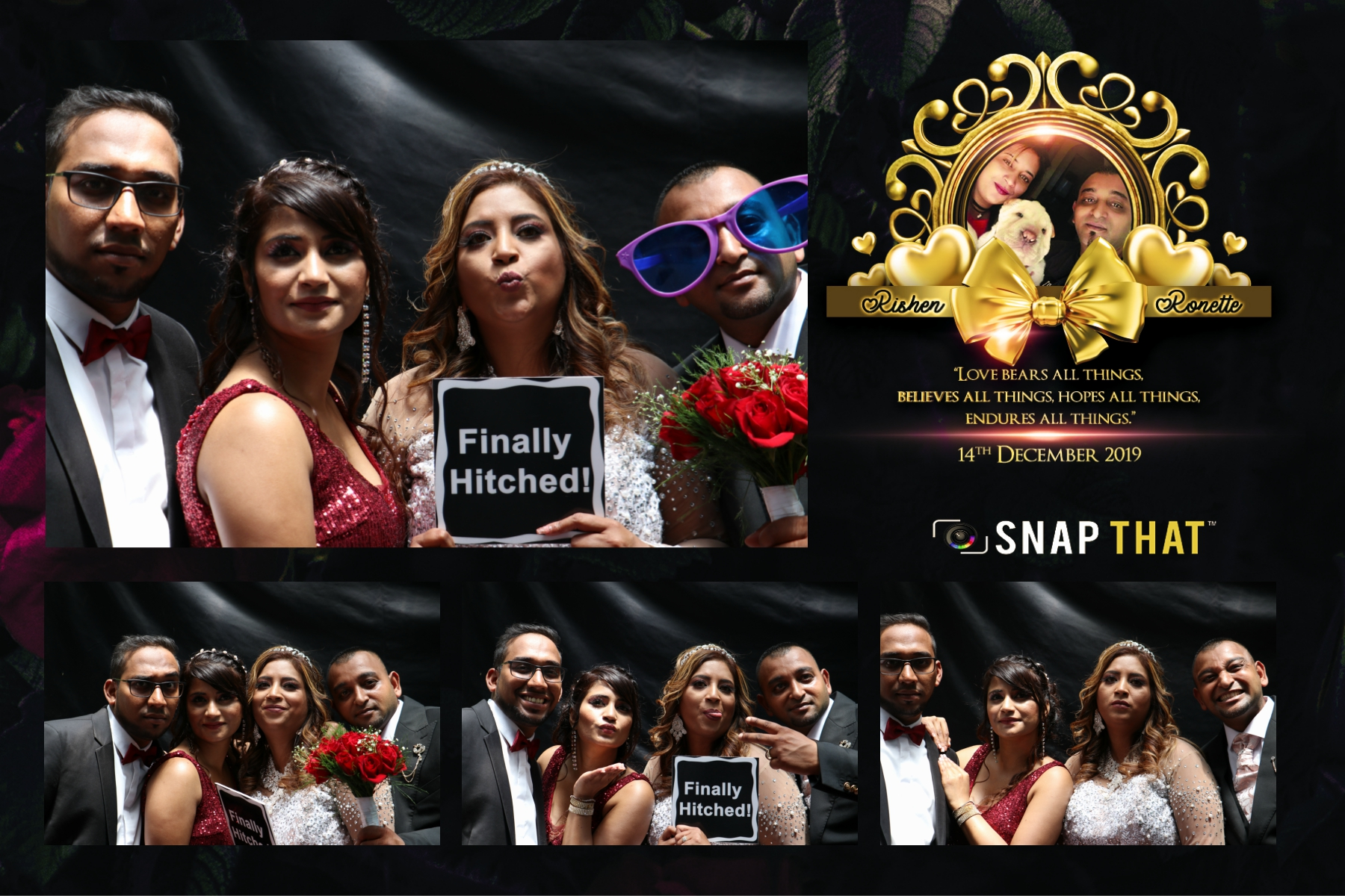 Rishen & Ronette's Wedding Photobooth
