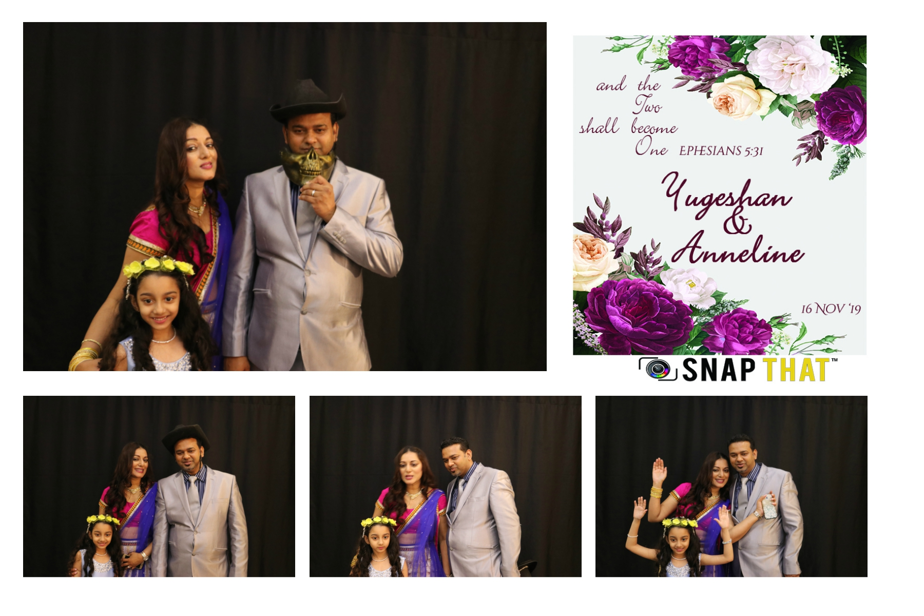 Yugeshan & Anneline Wedding Photobooth