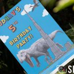 5th Birthday Party Set Up - Dinosaur Theme
